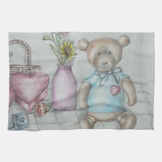 still ife hearts nad teddy bear towels