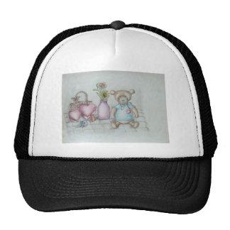 still ife hearts nad teddy bear trucker hat
