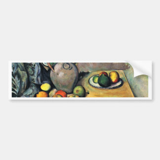 Still Jug And Fruit On A Table By Paul Cézanne Car Bumper Sticker