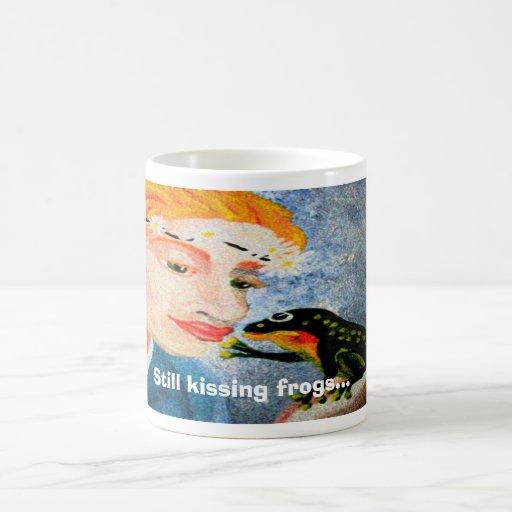 Still kissing frogs... classic white coffee mug