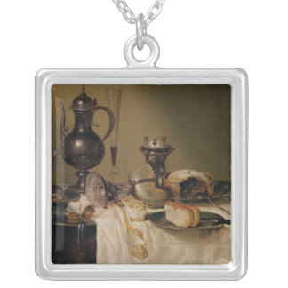 Still Life, 1642 Silver Plated Necklace