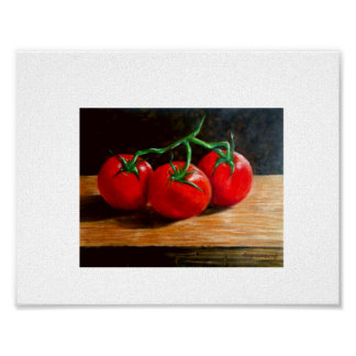 Still Life - 3 Tomatoes Poster