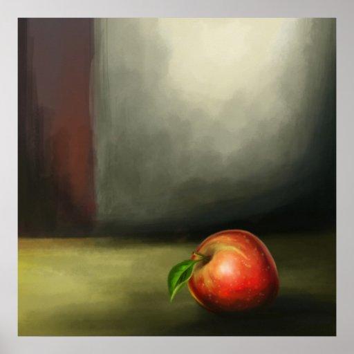 still life apple print