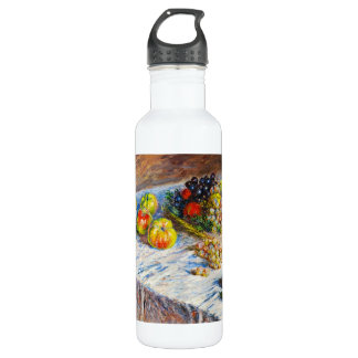 Still Life - Apples and Grapes Claude Monet 24oz Water Bottle