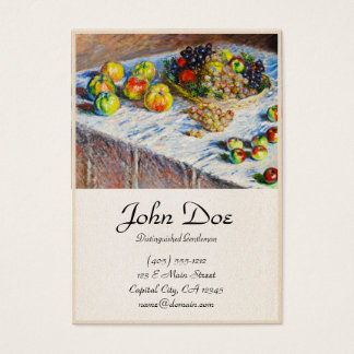 Still Life - Apples and Grapes Claude Monet Business Card