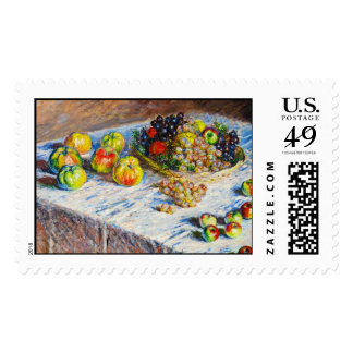 Still Life - Apples and Grapes Claude Monet Postage