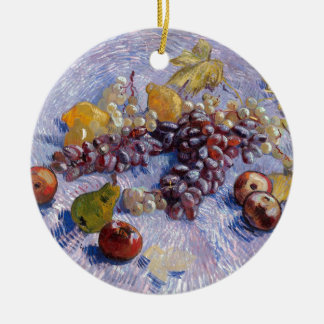 Still Life: Apples, Pears, Grapes - Van Gogh Ceramic Ornament