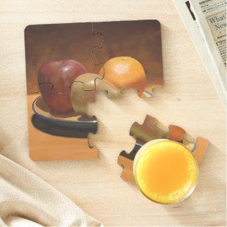 Still Life Arrangement Mixed Fruit Puzzle Coaster