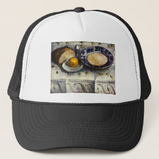 Still Life at breakfast table by Modersohn-Becker Trucker Hat