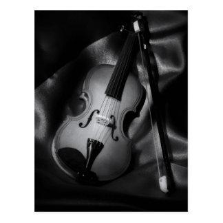 Still-life b&W image of a violin Postcard