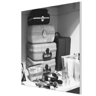 Still Life B/W Photograph Makeup Collection Canvas
