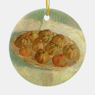 Still Life, Basket of Apples by Vincent van Gogh Ceramic Ornament