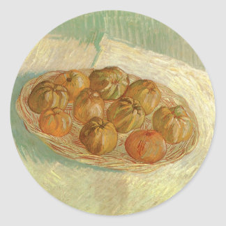 Still Life, Basket of Apples by Vincent van Gogh Classic Round Sticker