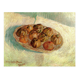 Still Life Basket of Apples Van Gogh Fine Art Postcard