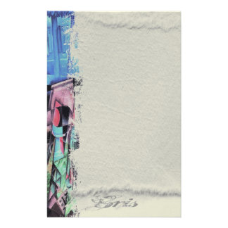 Still LIfe Before an Open Window, by Juan Gris Customized Stationery