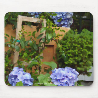 Still Life Blue Hydrangeas Mouse Pad
