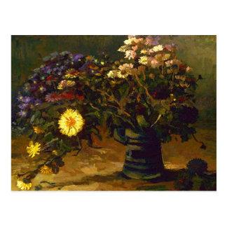 Still Life Bouquet of Daisies Van Gogh Fine Art Postcard