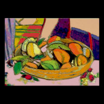 Still Life Bowl of Fruit posters