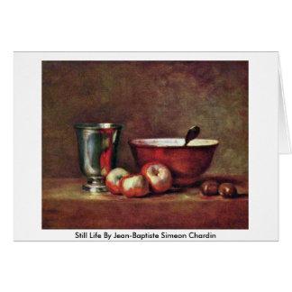 Still Life By Jean-Baptiste Simeon Chardin Card