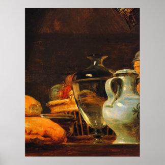 Still life by Jean-Baptiste-Simeon Chardin Poster
