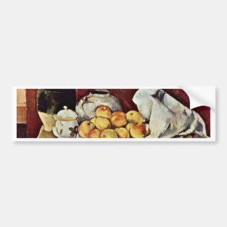 Still Life By Paul Cézanne (Best Quality) Car Bumper Sticker