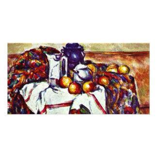 Still Life By Paul Cézanne Best Quality Customized Photo Card