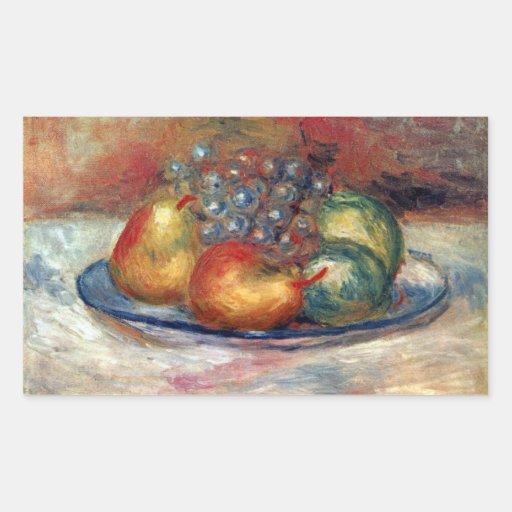 Still Life by Pierre Renoir Rectangle Sticker
