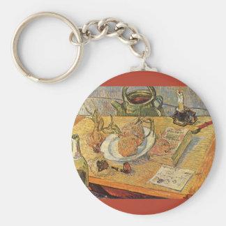 Still Life by Vincent van Gogh, Vintage Fine Art Keychain