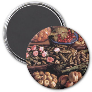 Still Life by Vincenzo Campi 3 Inch Round Magnet