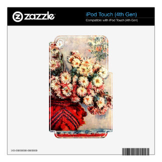 still life chrysanthemums by Claude Monet Skin For iPod Touch 4G