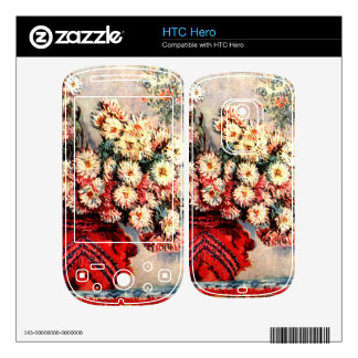 still life chrysanthemums by Claude Monet Skin For The HTC Hero