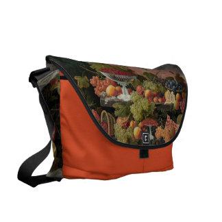 Still Life custom messenger bag