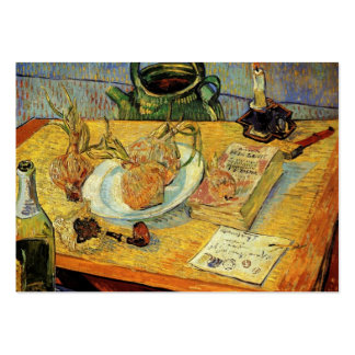 Still Life Drawing Board, Pipe, Onions and ... Large Business Card