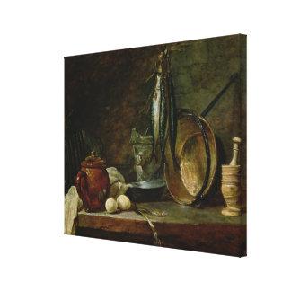 Still life: Fast Day Menu, 1731 Canvas Print