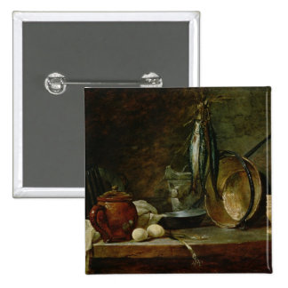 Still life: Fast Day Menu, 1731 Pinback Button