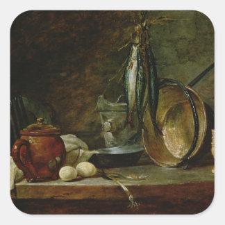 Still life: Fast Day Menu, 1731 Square Sticker