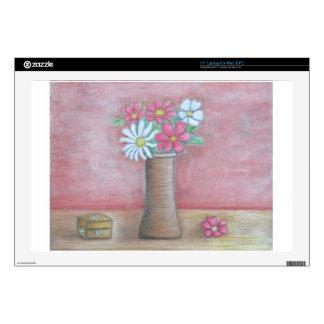 "still life flowers 17"" laptop skins"