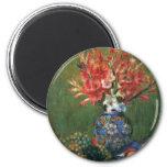 Still Life Flowers Fruit by Renoir, Impressionism Refrigerator Magnet