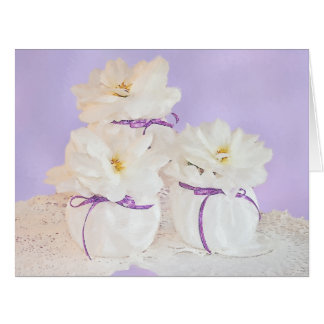 Still Life Flowers Greeting Card
