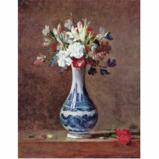 Still Life Flowers In A Vase By Chardin Jean-Bapti Cutout