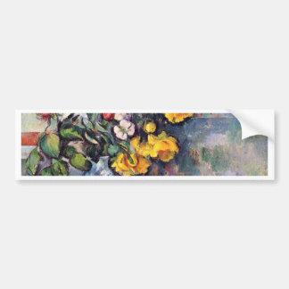 Still Life Flowers In A Vase By Paul Cézanne Car Bumper Sticker
