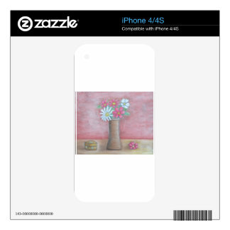 still life flowers iPhone 4S decal