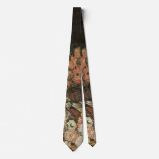 Still Life Flowers, Vintage Floral Baroque Neck Tie