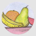 Still Life Fruit Classic Round Sticker