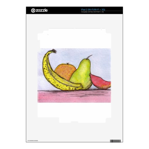 Still Life Fruit Decal For iPad 2