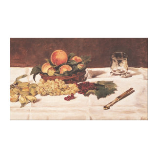 Still Life: Fruit on a Table, 1864 Gallery Wrap Canvas