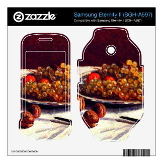 Still life grapes and nuts by Alfred Sisley Samsung Eternity II Decal