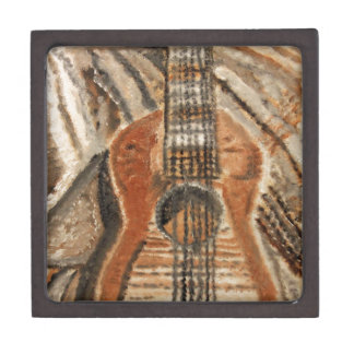 """Still Life Guitar"" Artwork by Carter L. Shepard"" Keepsake Box"