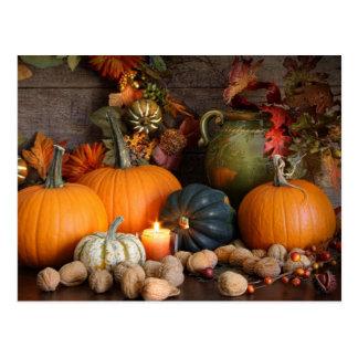 Still Life Harvest  Decoration For Thanksgiving Postcard