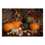Still Life Harvest  Decoration For Thanksgiving Poster